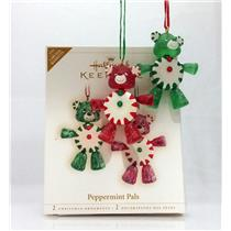 Hallmark Limited Ornament 2006 Peppermint Pals - Candy Teddy Bears - #QXE3263