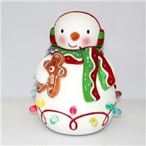 Hallmark Tabletop Decoration 2010 Season's Treatings Musical Snowman - #LPR2317