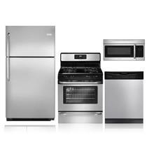 NIB Frigidaire Full Kitchen Set: Refrigerator, Gas Range, Dishwasher, Microwave