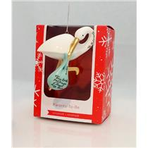 Carlton Heirloom Ornament 2016 Parents to Be - Porcelain Stork - #CXOR008K