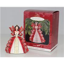 Hallmark Keepsake Series Ornament 1997 Holiday Barbie #5 - Red Dress - #QXI6212