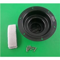 Camco 40138 RV Trailer Black Plumbing Vent Cap & Base Replacement Kit