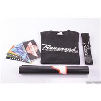 REVEREND MUSICAL INSTRUMENTS Guitar Strap Sticker T-Shirt Banner Bundle #27428