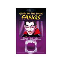 Funworld Fangs Glow In The Dark Plastic Monster Vampire Teeth (3-Pack)