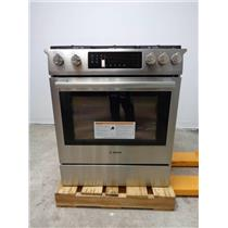 """Bosch 800 Series 30""""4.8 cu. ft. Convection Oven Slide-in Gas SS Range HGI8054UC"""