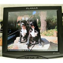 """Planar 17"""" PT1710MX-BK Touchscreen LCD Monitor Built-in Speakers NO STAND good"""