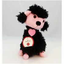 Hallmark Exclusive Valentines Plush 2007 Black and Pink Poodle - #VDA7040BP