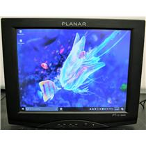 """Planar 15"""" PT1510MX-BK LCD Touchscreen Monitor Built-in Speakers NO STAND Good"""