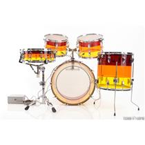 1978 LUDWIG Tivoli Vistalite Tequila Sunrise 5 Piece Drum Kit #27558