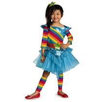 80's Flashback Rainbow Colorful Cutie Girls Toddler Tutu Child Costume XS 3-4T