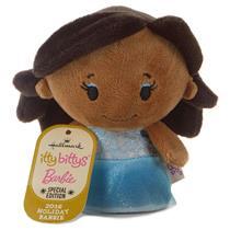 Hallmark 2016 Itty Bitty's Plush Holiday Barbie - African American - #KDD1094