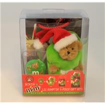 Boyds Bears Lil' Sumptin' Gift Set - Lil' Ho Ho Kringlebear as Green M&M #919064