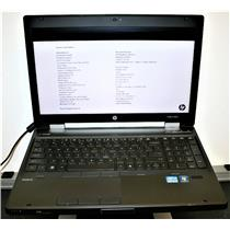 "HP Elitebook 8560w 15.6"" Core i5 2.60Ghz 4GB 320GB Webcam Laptop Notebook"
