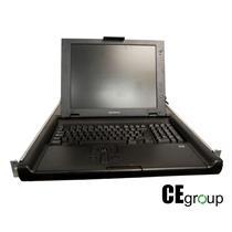 """HP Compaq TFT5600 RKM 15"""" Rack Mount LCD w/ Trackpad Rails Power Supply [56]"""