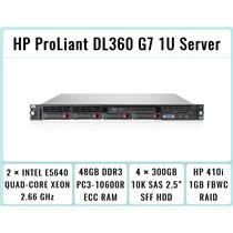 HP ProLiant DL360 G7 1U Server 2×Xeon Quad-Core 2.66GHz + 48GB RAM + 4×300GB SAS