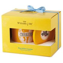 Hallmark Exclusive Wizard of Oz 2016 Courageous Mug with Coaster Set - #WOZ1063