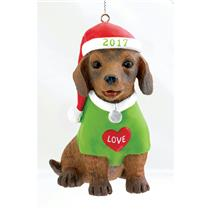 Carlton Heirloom Series Ornament 2017 Puppy Love #17 - #CXOR025M