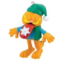 Carlton Heirloom Ornament 2017 Garfield with Snowflake on Tongue - #CXOR029M