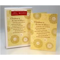 Hallmark Boxed Cards Christmas is the time to believe - 16 Cards - #APX1145