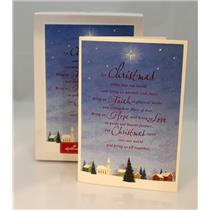 Hallmark Boxed Card Let Christmas Come into Our World - 12 Cards - #PX2032