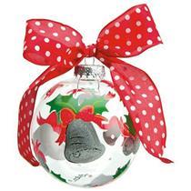 "Lolita Santa Barbara ""Silver Bells"" Glass Ball Ornament - #ORN10-5521Q"