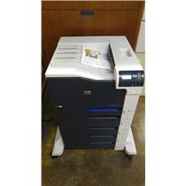 HP LASERJET ETNERPRISE CP5525XH LASER PRINTER WARRANTY REFURBISHED WITH TONERS.