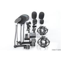 2 Rode SM2 Microphone Shock Mounts Pop Filters & PML Milab Phantom Power #29754