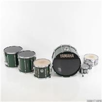 Vintage Yamaha 9000 6 Piece Green Drum Set w/ Cases & Extras Russ Kunkel #24723