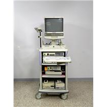 Olympus Endoscopy System Cart Camera Evis Light Source OTV-S5C CV-140 CLV-U40