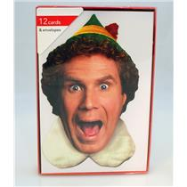 American Greetings Put Your Best Nice Face On! Elf Boxed Christmas Cards 4899-01