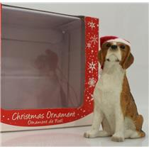 Sandicast Ornament Beagle With Santa Hat - #XSO00902-DB