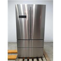 """Bosch 800 series 36"""" 20.7 4 Stainless Door French Door Refrigerator B21CL80SNS"""