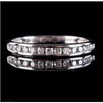 10k White Gold Channel Set Diamond Wedding / Anniversary Band .25ctw