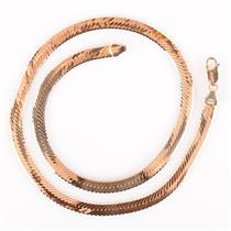 "14k Yellow Gold Italian Made Herringbone Chain 18"" Length 20.7g"