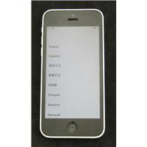 White Apple iPhone A1532 5c 8GB (Verizon) Ver 10.3.3 MGFG2LL/A Smartphone