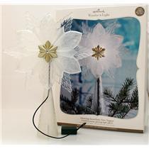 Hallmark Magic 2010 Glowing Snowflake Tree Topper - Wonder and Light - #QXG3633