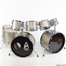 Ludwig Classic 8-Piece Maple 6-ply Double Bass Silver Smoke Drum Set Kit #30407