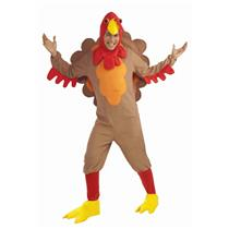 Fleece Turkey Adult Thanksgiving Costume
