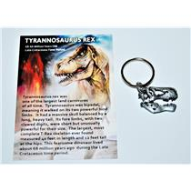 "Tyrannosaurus Rex Skull Keychain Fossil Replica 1"" size #10178 2o"
