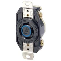 Leviton 2420 Industrial Grade NEMA L15-20R 20 Amp 250 Volt 3-Phase 3P 4W V-0-MAX