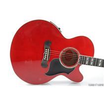 2005 Gibson J-185 EC Custom Acoustic Electric Guitar w/ Hard Case Red #31010