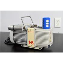 Edwards E2M1.5 Rotary Vane Two Stage Vacuum Pump A371 w/ Agilent G1099 GC MS E2M