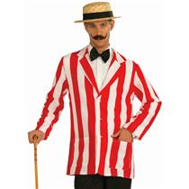 Roarin' 20's Old Time Adult Red and White Striped Costume Jacket Standard Size