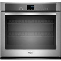 """Whirlpool 27"""" 4.3 Cu. Ft SteamClean Single SS Electric Wall Oven WOS51EC7AS"""