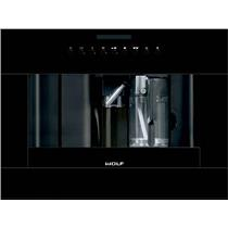 Wolf 24 Inch Auto On/Off Easy To Clean Built-in Black Coffee System EC24B