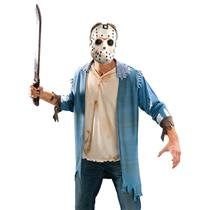 Friday The 13th Jason Voorhees Costume Blister Kit Shirt Mask Machete