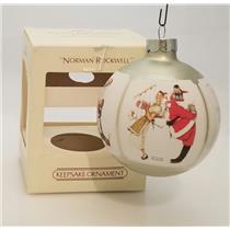 Hallmark Keepsake Glass Ball Ornament 1983 Norman Rockwell - #QX2157-DB