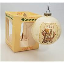 Authentic Hummel Glass Ball Ornament 1983 Noel - #AHNB-DB