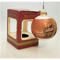 Goebel Hummel Glass Ball Ornament 1983 Blessed Event - #157-5275-DB