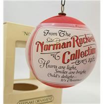 Hallmark Keepsake Satin Ball Ornament 1982 Norman Rockwell - #QX2023-DB